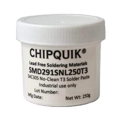SMD291SNL250T3 Solder Paste In Jar 250G (T3) Sac305 No Clean