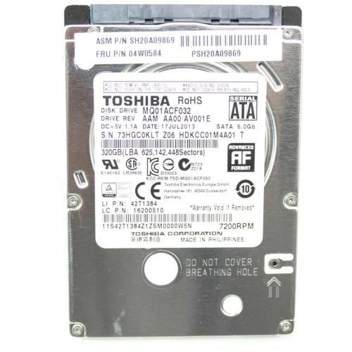 04W0584 Hd Hard Drives