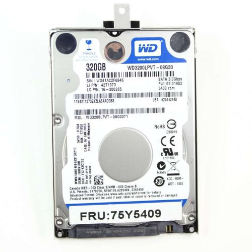 75Y5409 Disk Tray-gemousea Fru 5400Rpm 320Gb 7.0Mm 3Gb