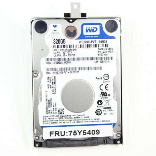 75Y5409 Disk Tray-gemousea Fru 5400Rpm 320Gb 7.0Mm 3GbMain