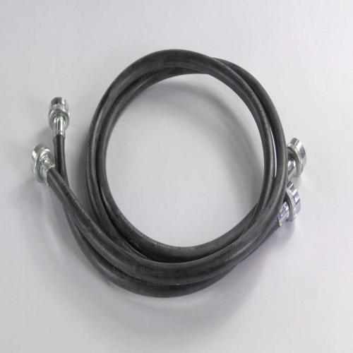 BK900 2-4' 3/4-Inch Fgh X 3/4-Inch Fgh Black Washer Fill Hoses W/washers