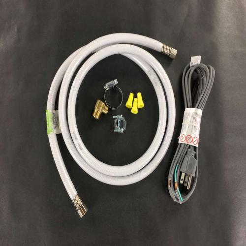 BK531 Dishwasher Hookup Kit-angle Cap Cord-white Poly Hose