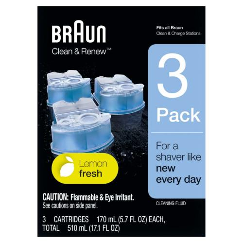 81666448 Braun Refill Ccr 3Pk Clean Ctr