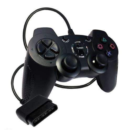 OS-6756 Sony Ps2 Controller Solid Black (Redesign)