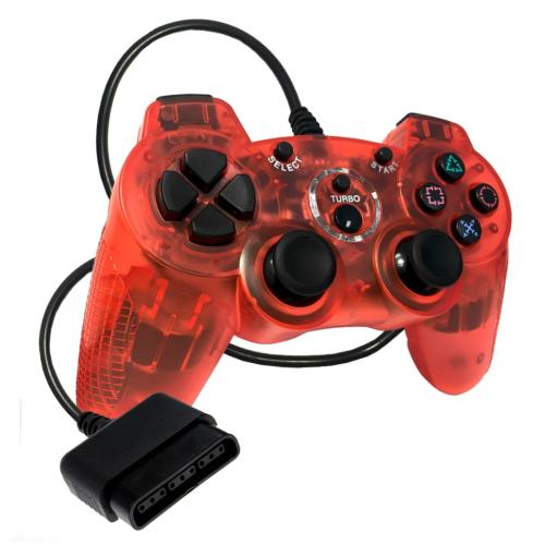 OS-6930 Sony Ps2 Controller Clear Red (Redesign)