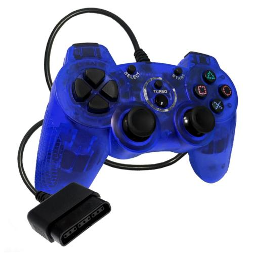 OS-6947 Sony Ps2 Controller Clear Blue (Redesign)