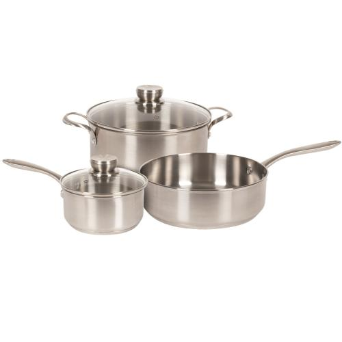 11FFSPAN02 Cookware - Stainless (5Pc Set)