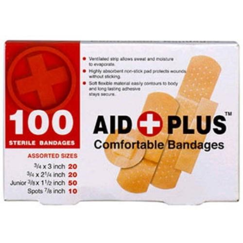 6115158 Band Aid 100/Pk Assorted Sizes