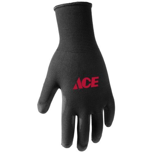 7502453 Large Black Poly Coated Work Gloves