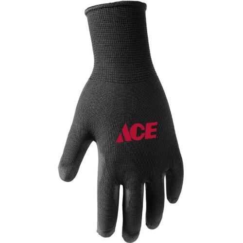7502347 Medium Black Poly Coated Work Gloves