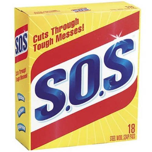 11953 Sos Scrubber Pads 18Pk
