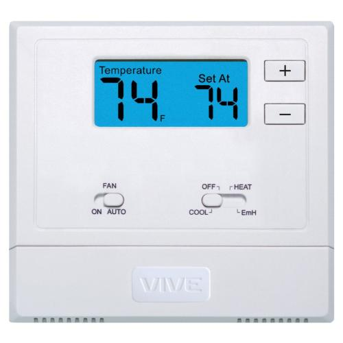 TP-N-621 Vive, Non-programmable, 2H/1c Heat Pump With 2-Inch Sq. In. Display