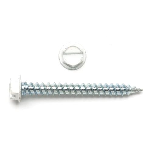 TP-8X2TPW250 8 X 2 Hex Washer White Head Register Screw (250 Pack)