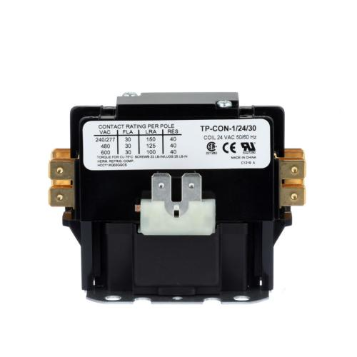 TP-CON-1/24/30 1-Pole 24-Volt 30-Amp Contactor With Shunt & Cover