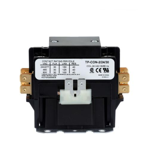 TP-CON-2/24/30 2 Pole 24 Volt 30 Amp Contactor With Lugs & Cover
