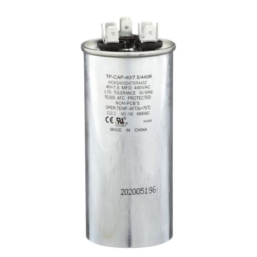 TP-CAP-40/7.5/440R 40+7.5 Mfd 440 Volt Round Run Capacitor