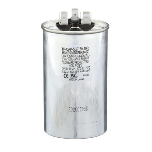 TP-CAP-50/7.5/440R 50+7.5 Mfd 440 Volt Round Run Capacitor