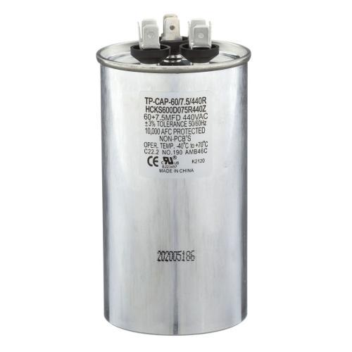 TP-CAP-60/7.5/440R 60+7.5 Mfd 440 Volt Round Run Capacitor