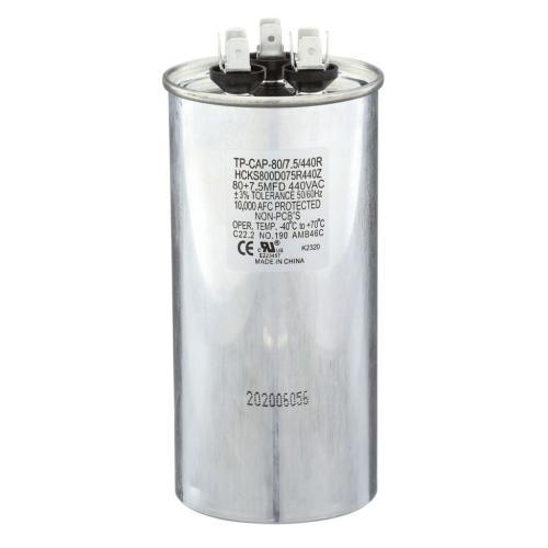 TP-CAP-80/7.5/440R 80+7.5 Mfd 440 Volt Round Run Capacitor