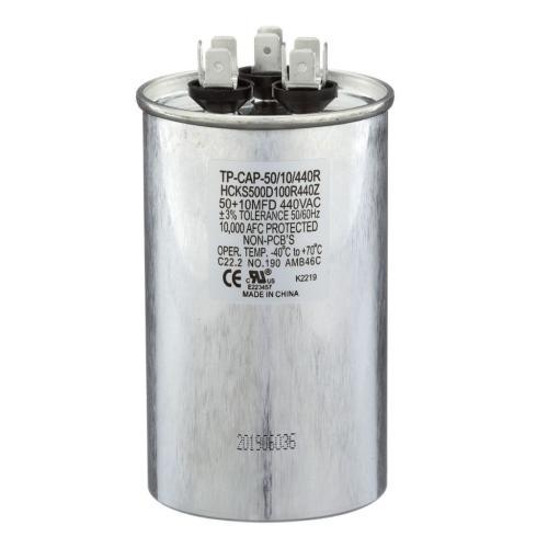 TP-CAP-50/10/440R 50+10 Mfd 440 Volt Round Run Capacitor
