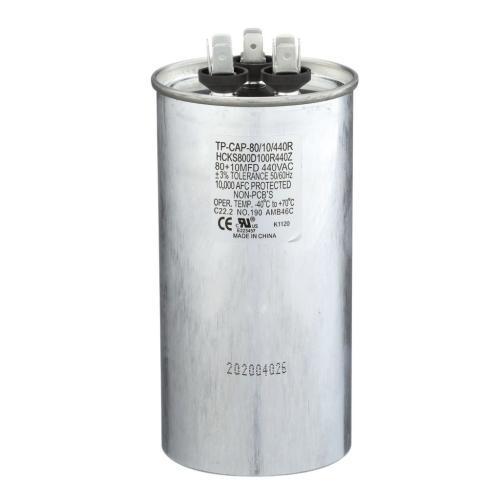 TP-CAP-80/10/440R 80+10 Mfd 440 Volt Round Run Capacitor