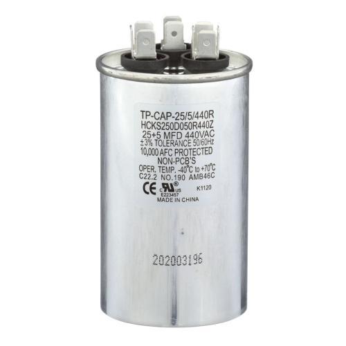 TP-CAP-25/5/440R 25+5 Mfd 440 Volt Round Run Capacitor