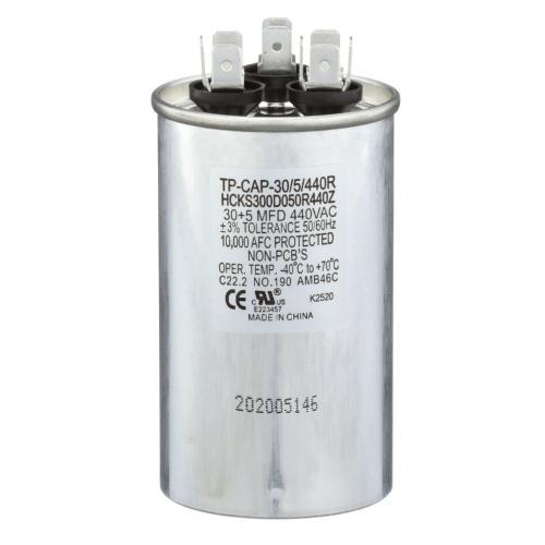TP-CAP-30/5/440R 30+5 Mfd 440 Volt Round Run Capacitor