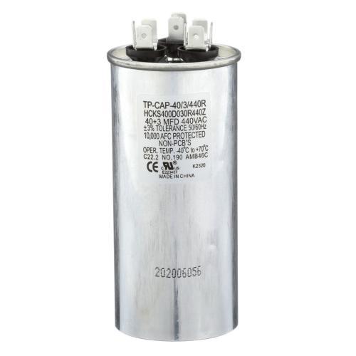TP-CAP-40/3/440R 40+3 Mfd 440 Volt Round Run Capacitor