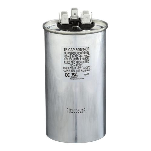 TP-CAP-60/5/440R 60+5 Mfd 440 Volt Round Run Capacitor