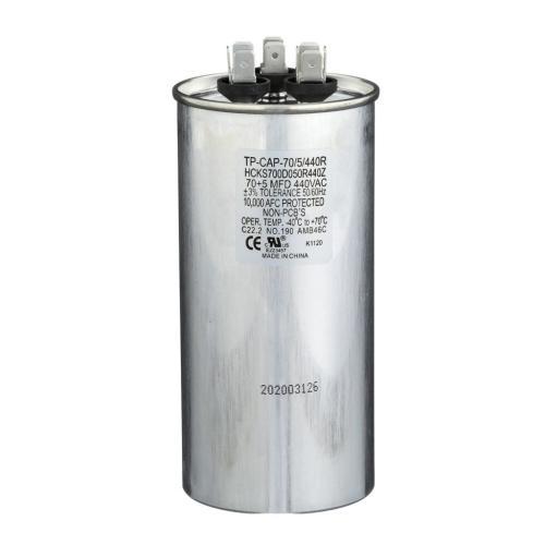 TP-CAP-70/5/440R 70+5 Mfd 440 Volt Round Run Capacitor