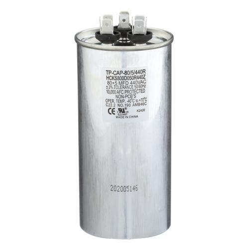 TP-CAP-80/5/440R 80+5 Mfd 440 Volt Round Run Capacitor