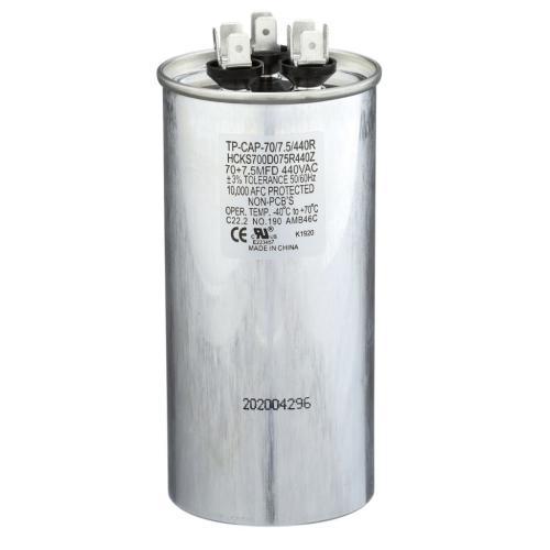 TP-CAP-70/7.5/440R 70+7.5Mfd 440Vac Round Run Capacitor