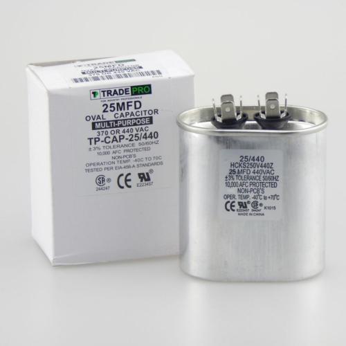 TP-CAP-25/440 25 Mfd 440 Volt Oval Run Capacitor