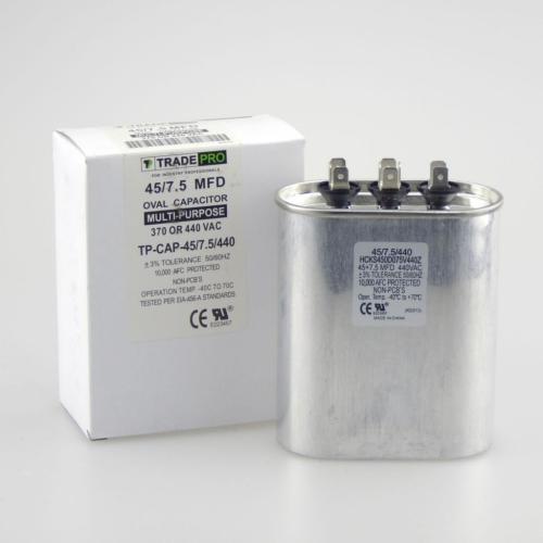 TP-CAP-45/7.5/440 Capacitors Oval Dual