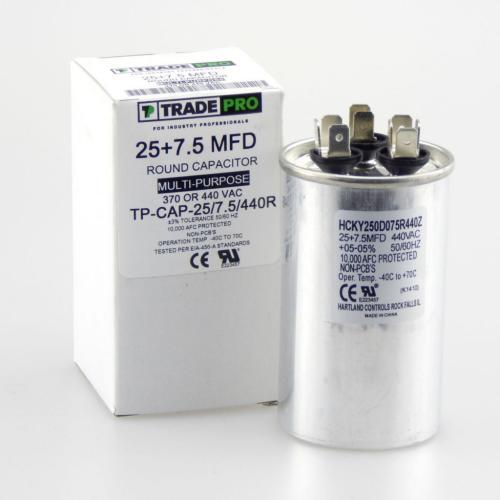 TP-CAP-25/7.5/440R Capacitors Round Dual