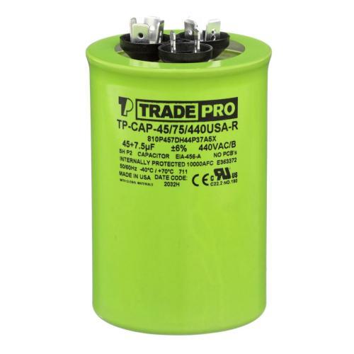 TP-CAP-45/75/440USAR Capacitors Round Us Dual