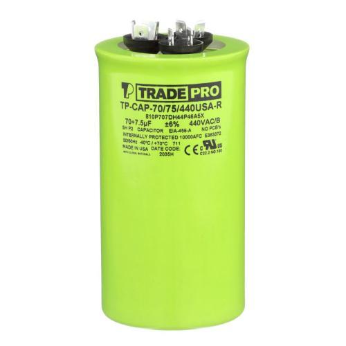 TP-CAP-70/75/440USAR Capacitors Round Us Dual