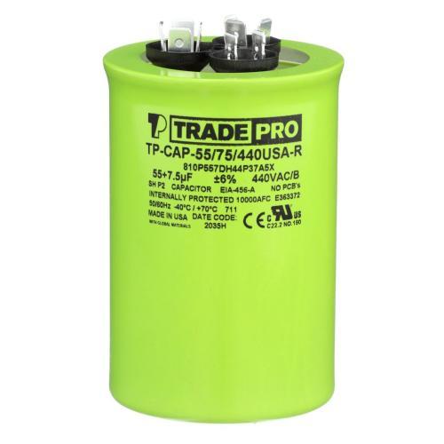 TP-CAP-55/75/440USAR Capacitors Round Us Dual