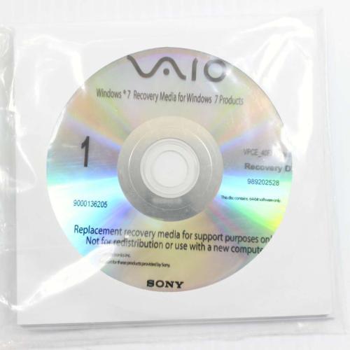 9-892-025-28 Rdvd Recovery DiscMain