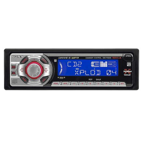 CDXF5500 Fm/am Compact Disc Player