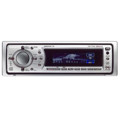 CDXF7000 Fm/am Compact Disc Player