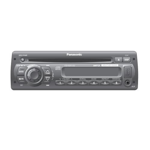 CQ5251JU Auto Radio/cd Deck