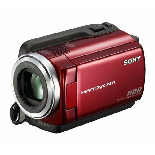 DCRSR47/R 60Gb Hdd Camcorder W/ 60X Optical Zoom; Red