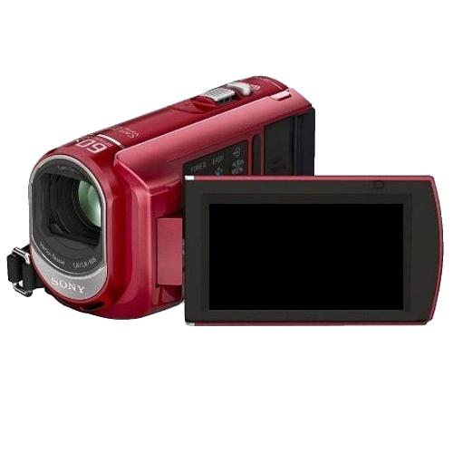 DCRSX40/R Palm-sized Camcorder W/ 60X Optical Zoom; Red
