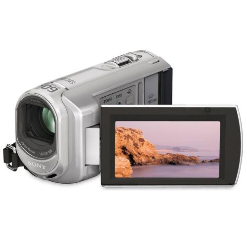 DCRSX41 Palm-sized Camcorder W/ 60X Optical Zoom; Silver