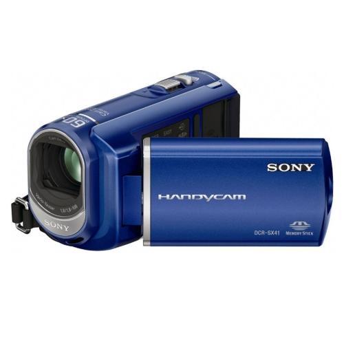 DCRSX41/L Palm-sized Camcorder W/ 60X Optical Zoom; Blue