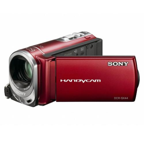 DCRSX44/R Flash Memory Handycam Camcorder; Red
