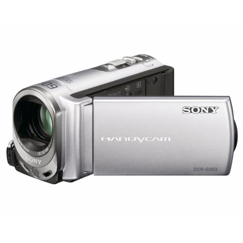 DCRSX63 Ultra-compact Camcorder W/ 16Gb Flash Memory; Silver