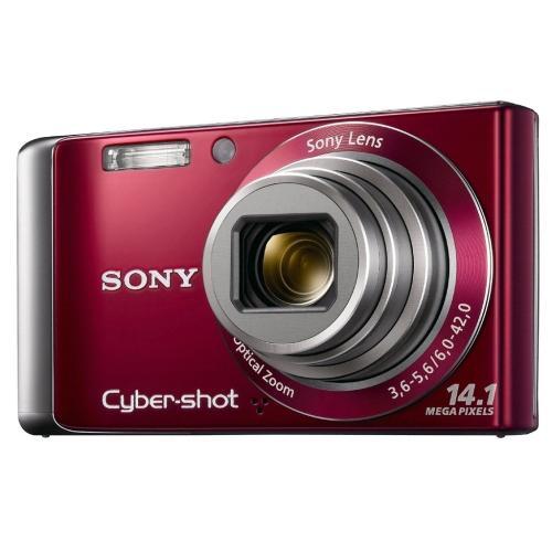DSCW370/R Cyber-shot Digital Still Camera; Red