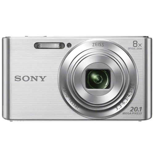 DSCW830 Compact Zoom Digital Camera; Silver